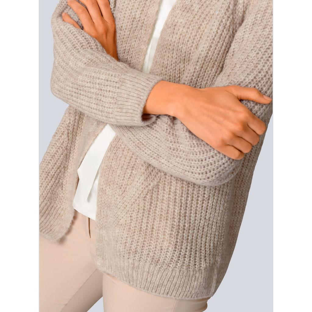 Alba Moda Strickjacke, in luftigem Grobstrick