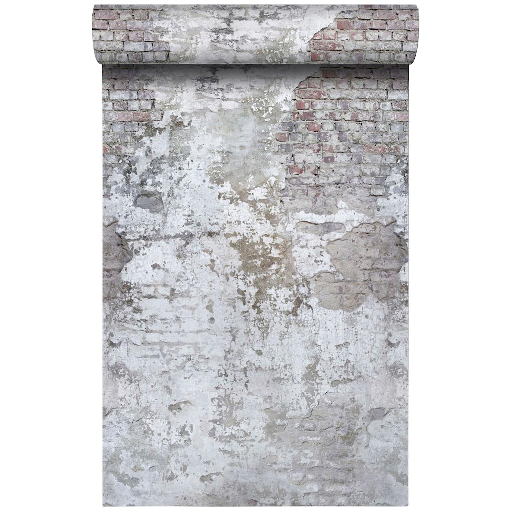 Bodenmeister Fototapete »3d Effekt Steinwand Vintage«