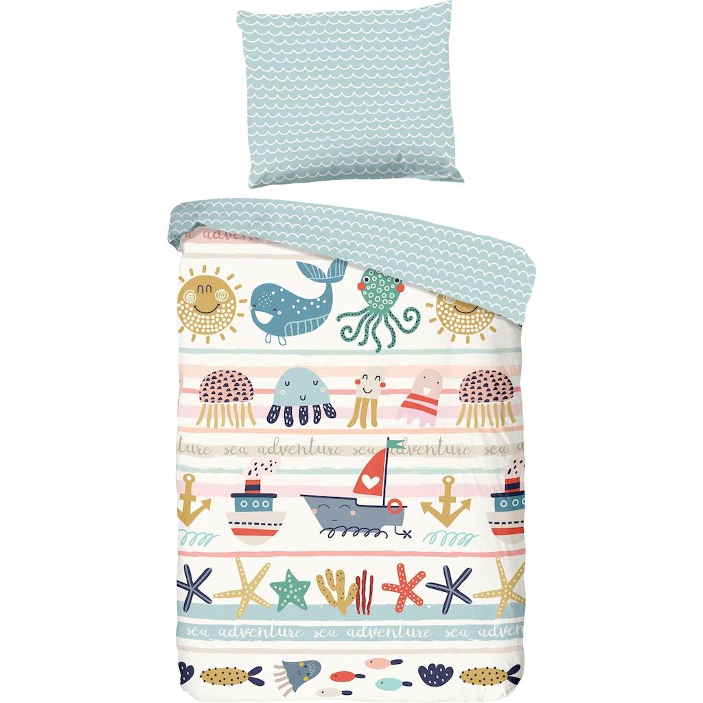good morning Kinderbettwäsche »Sea«, mit Meerestieren