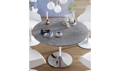 INOSIGN Esstisch »Trompet«, rund, Ø110 cm, Tischplatte weiß Hochglanz kaufen