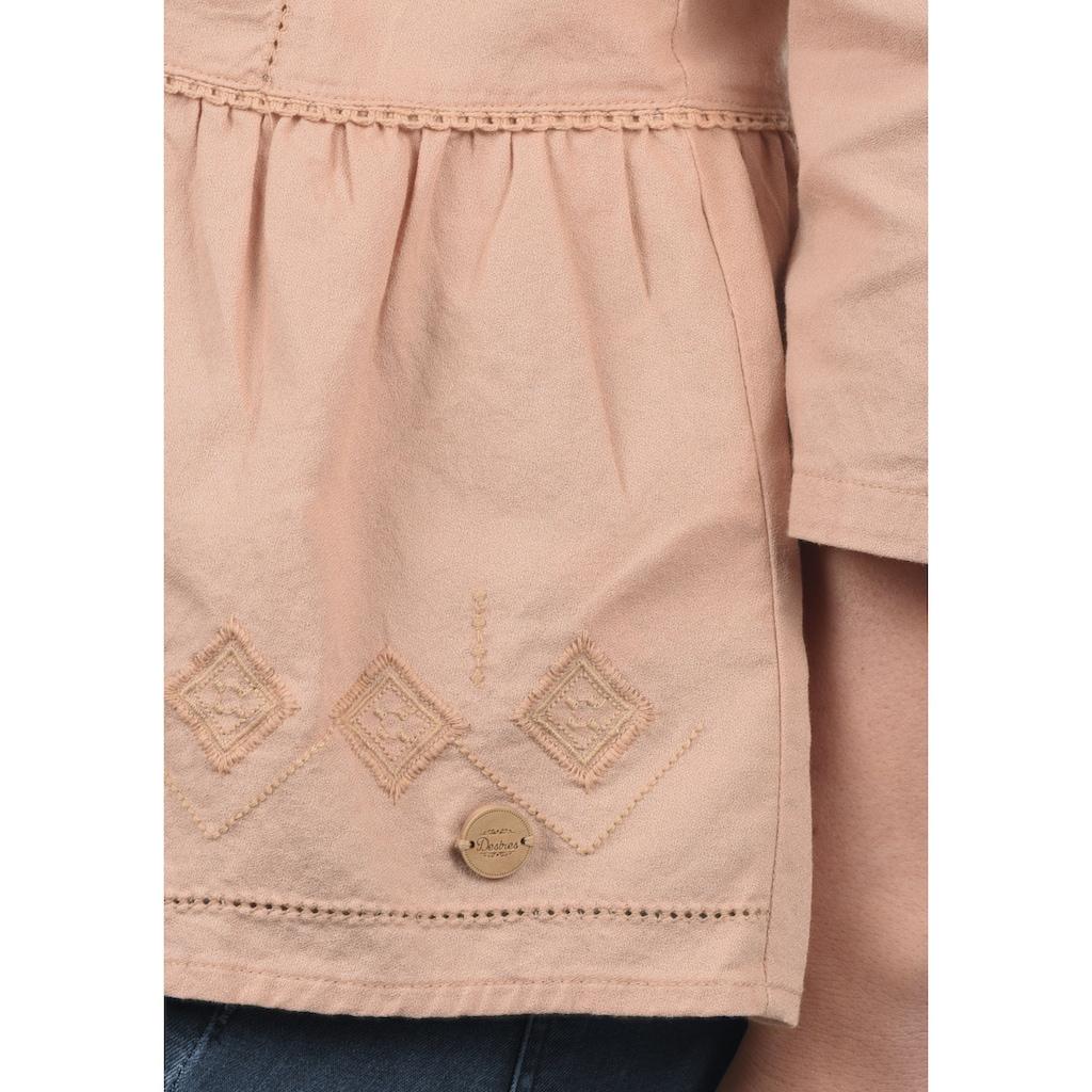 DESIRES Rüschenbluse »Evita«, Bluse mit Stickereien