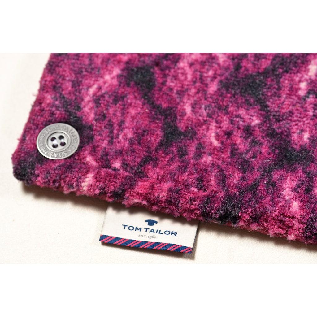 TOM TAILOR Teppich »Happy Patchwork Knit«, rechteckig, 12 mm Höhe, modernes Strick-Design, Wohnzimmer
