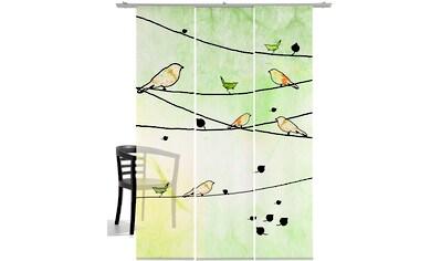 emotion textiles Schiebegardine »Crazy Birds«, HxB: 260x60, mit Befestigungszubehör kaufen