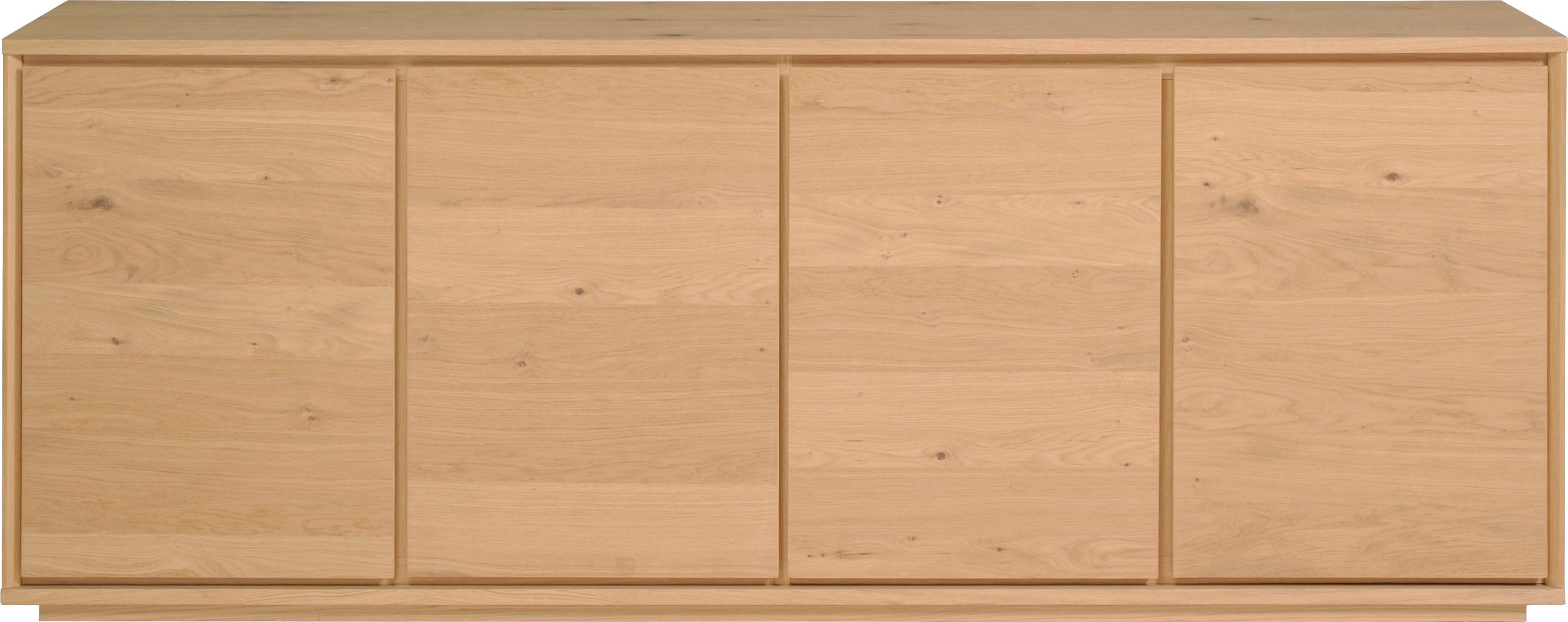 Home affaire Sideboard Stockholm 4-türig mit schönem Fußuntergestell Breite 217 cm