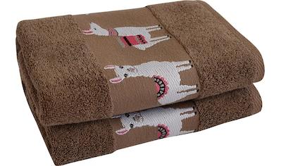 Dyckhoff Handtücher »Lama«, (2 St.), mit trendiger Lamabordüre kaufen
