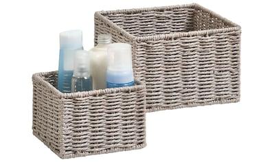 Zeller Present Aufbewahrungskorb »Aufbewahrungskörbchen«, (Set, 2 St.), ideal fürs... kaufen