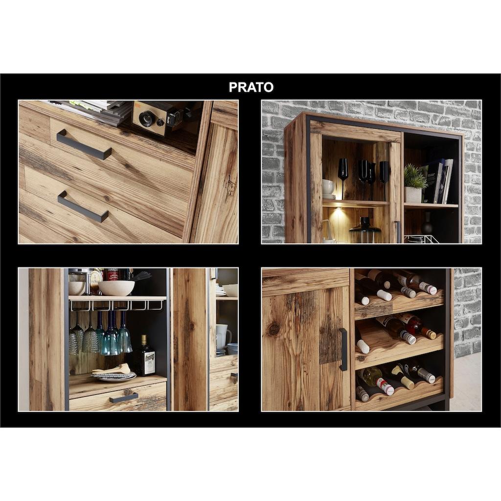 Innostyle Weinschrank »Prato«, 4 offene Fächer, inkl. LED-Beleuchtung