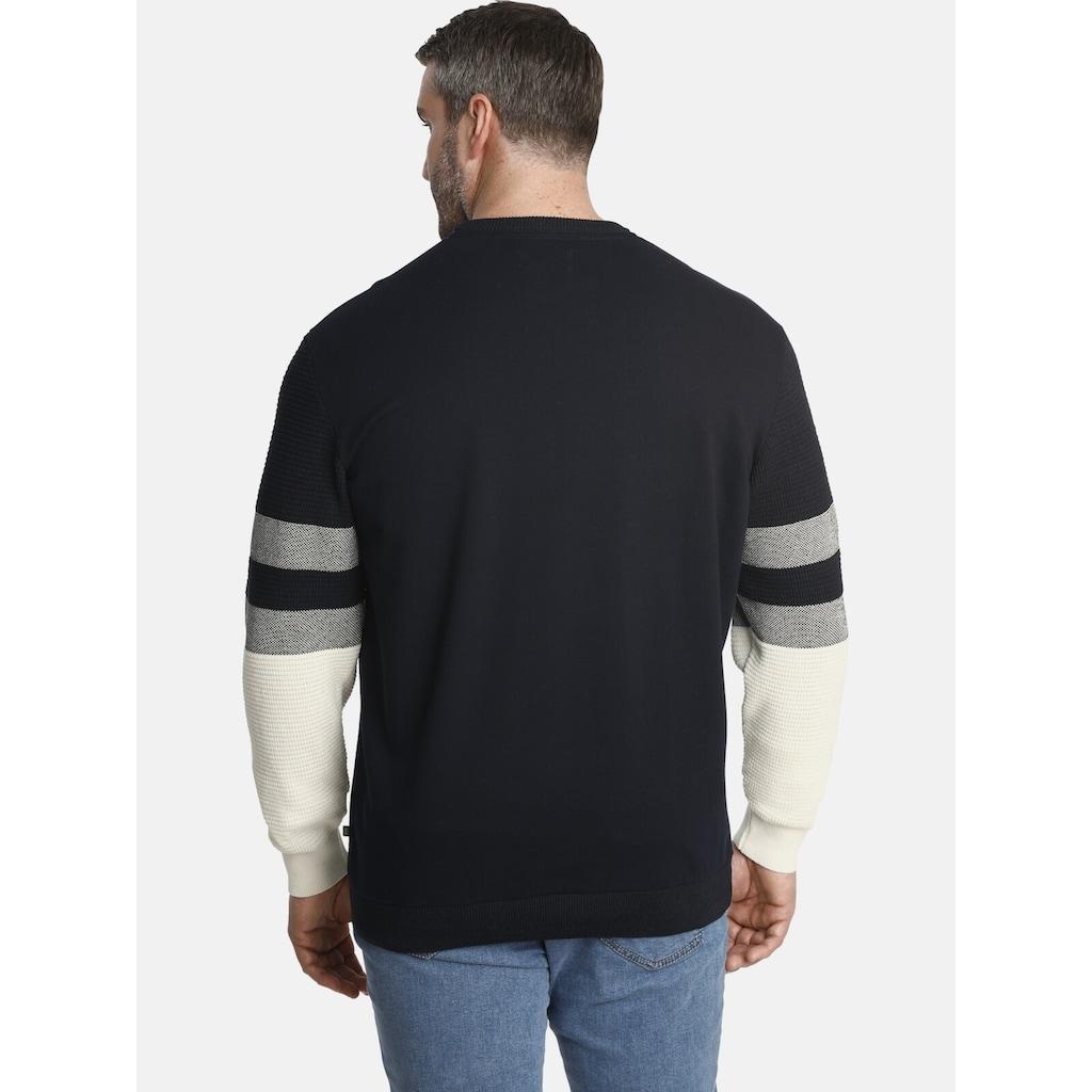Charles Colby Sweatshirt »EARL JIM«, Mix aus Sweat und Strick