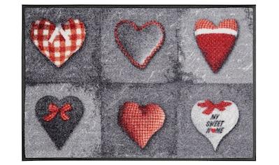 wash+dry by Kleen-Tex Fußmatte »My Sweet Home grey«, rechteckig, 9 mm Höhe,... kaufen