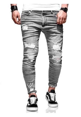 behype Slim-fit-Jeans »Dino«, mit tollen Used-Elementen kaufen