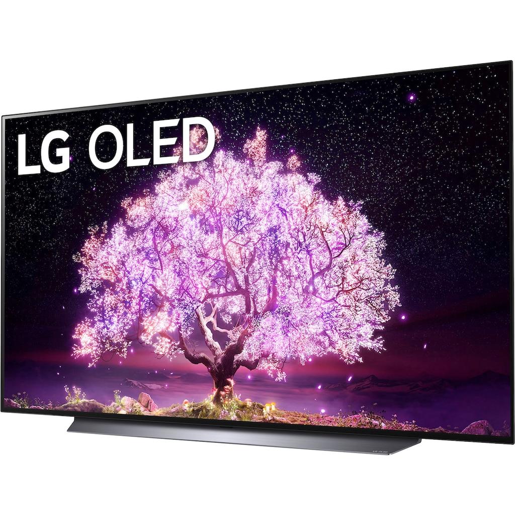 """LG OLED-Fernseher »OLED77C17LB«, 195 cm/77 """", 4K Ultra HD, Smart-TV, (bis zu 120Hz)-α9 Gen4 4K AI-Prozessor-Twin Triple Tuner-Sprachassistenten-HDMI 2.1"""
