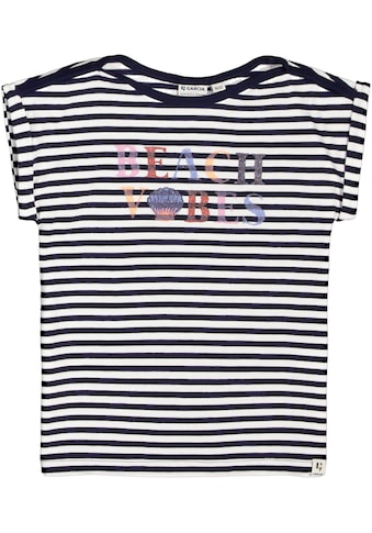 Garcia T-Shirt »Beach Vibes«, mit U-Boot-Ausschnitt kaufen