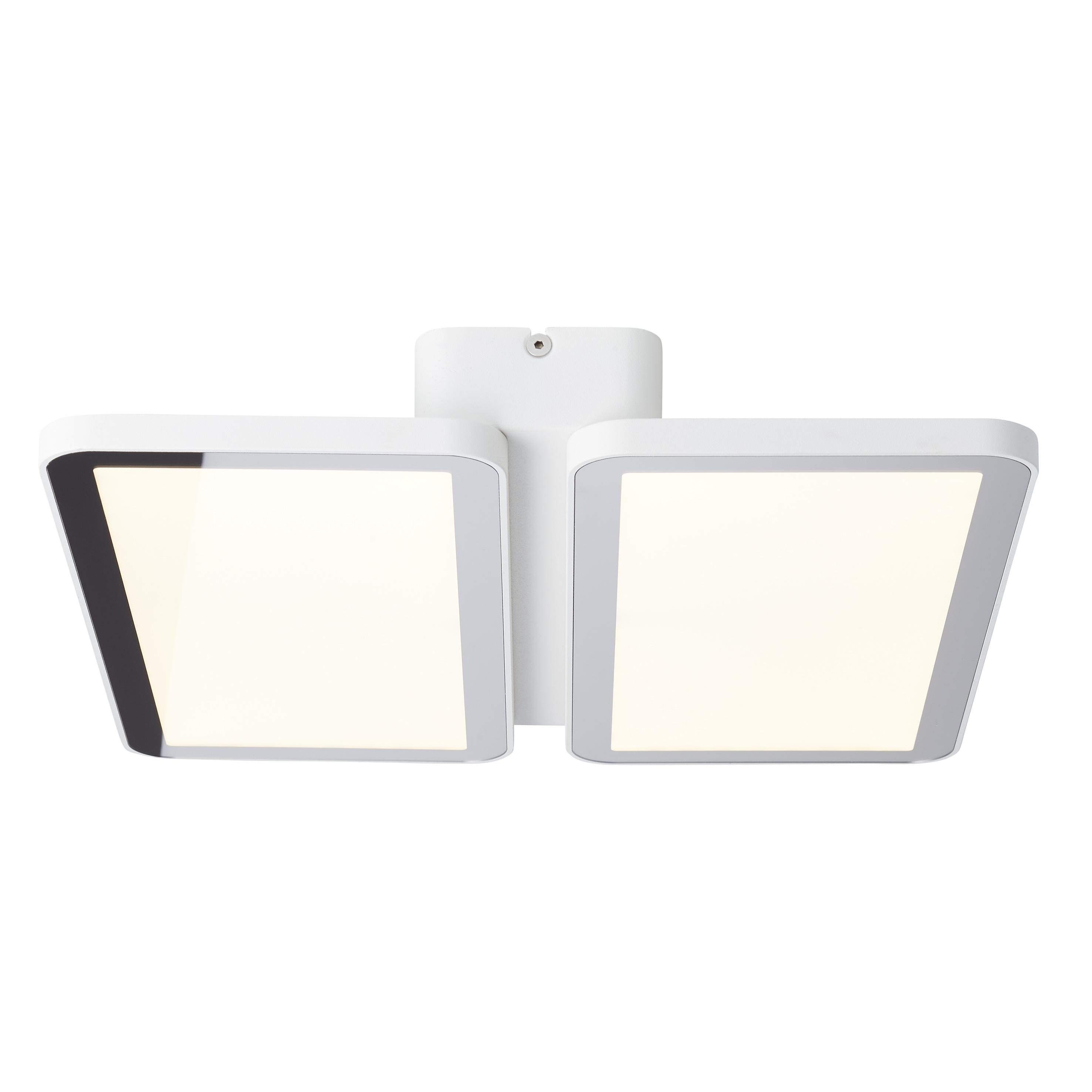 AEG Legra LED Deckenaufbau-Paneel 32x32cm sand weiß/chrom
