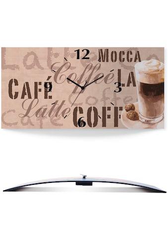 Artland Wanduhr »Kaffee - Latte Macchiato«, 3D Optik gebogen, lautlos, ohne... kaufen