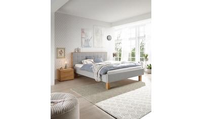 HASENA Polsterbett »Noah«, Fußfarbe eiche bianco, Komforthöhe, Fußhöhe 25 cm kaufen