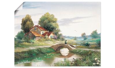 Artland Wandbild »Die Brücke« kaufen