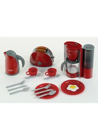 Klein Kinder-Küchenset »Bosch Frühstückset«, (Set, 16 tlg.), Wasserkocher mit Wasser befüllbar kaufen