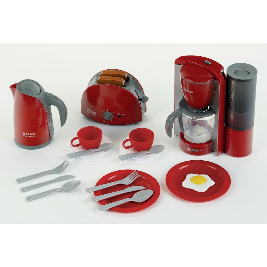 Klein Kinder-Küchenset »Bosch Frühstückset«, (Set, 16 tlg.), Wasserkocher mit Wasser befüllbar