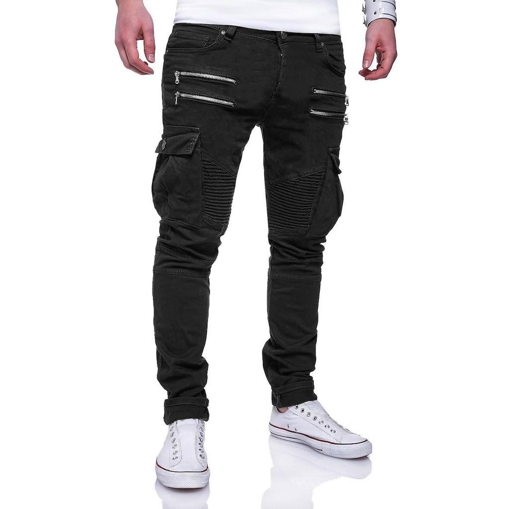 behype Slim-fit-Jeans »BENJAY«, im modernen Biker-Style