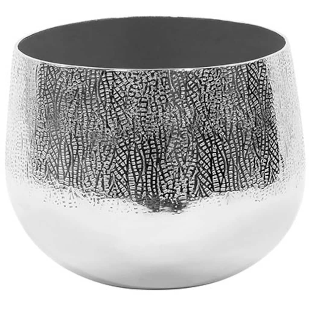 Fink Übertopf »BLUSH, silberfarben«, (1 St.), dekorativer Blumentopf, aus Metall, in verschiedenen Größen erhältlich