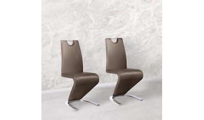 Homexperts Freischwinger »Zora 02«, (2 Stück), Bezug in Kunstleder, Rückenlehne mit Griff zum einfachen Zurückziehen kaufen