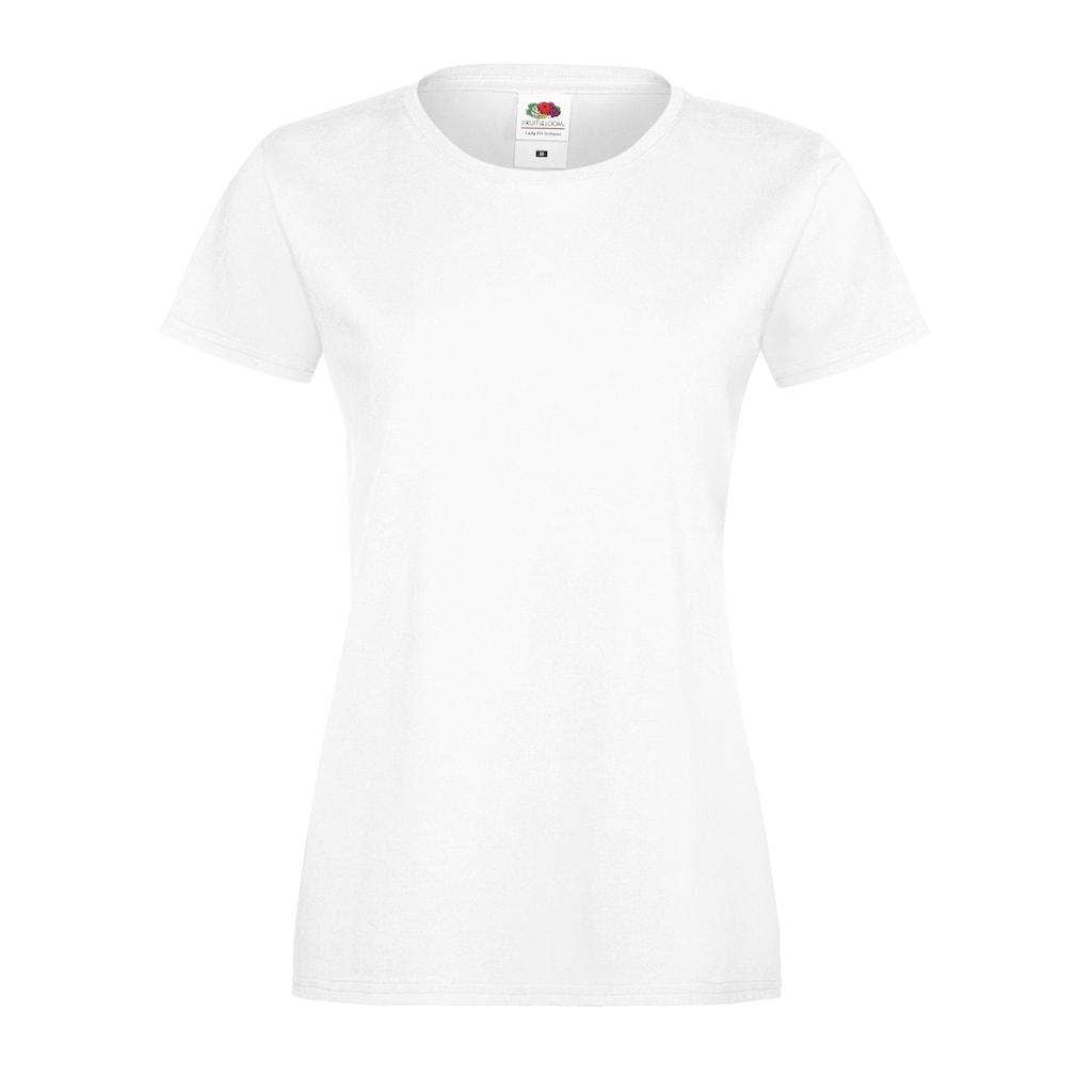 Fruit of the Loom T-Shirt »Damen Lady-Fit Sofspun, Kurzarm, Rundhalsausschnitt«