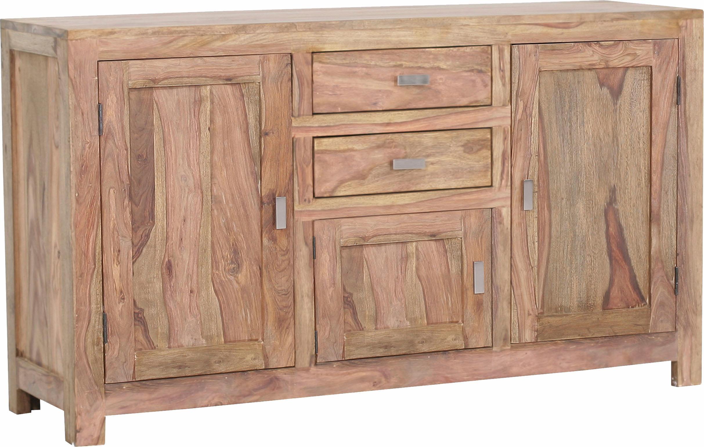 Gutmann Factory Sideboard Inka aus massivem Sheesham Holz Breite 140 cm