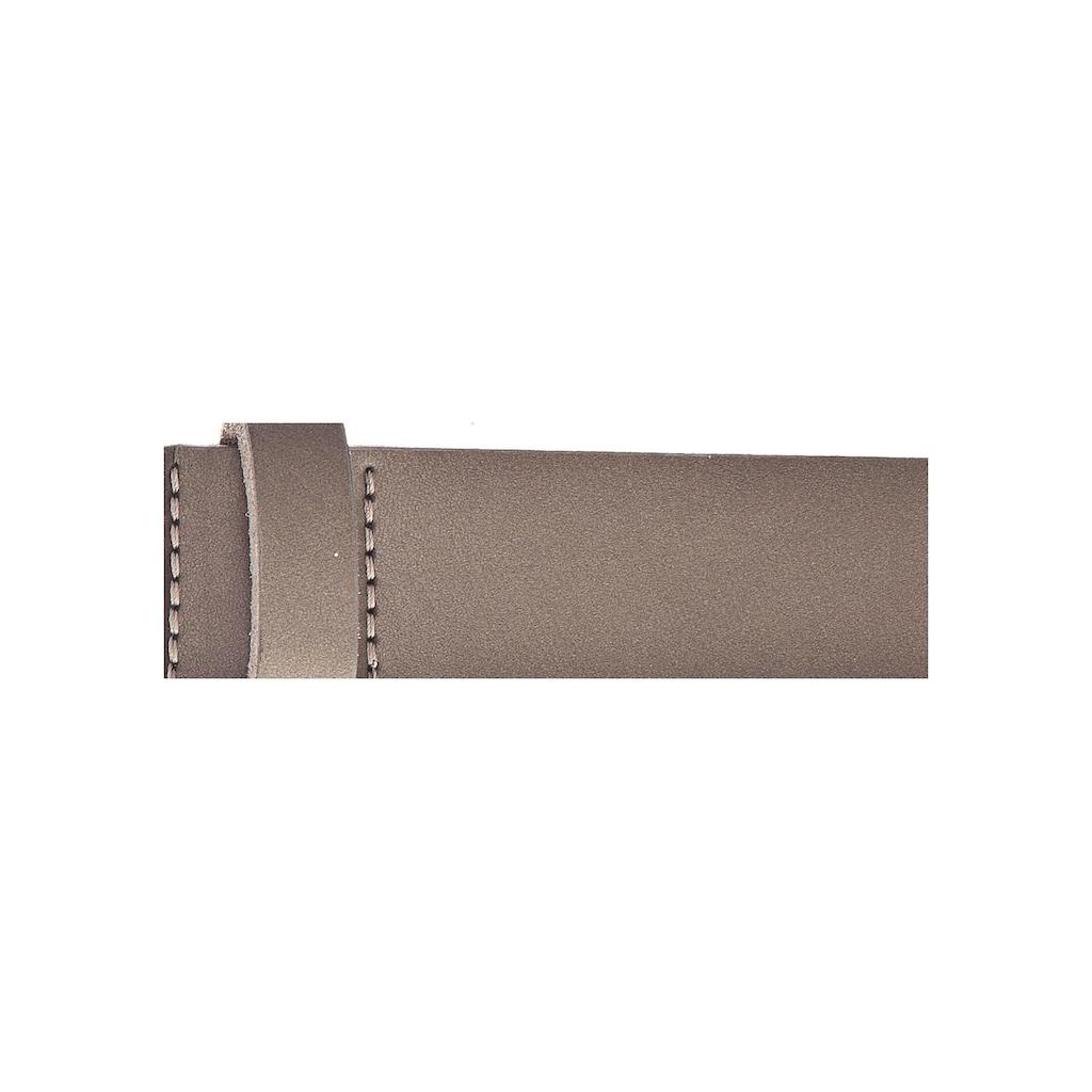 Vanzetti Ledergürtel, mit ovaler Dornschließe
