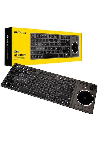 Corsair Gaming-Tastatur »K83 Wireless Entertainment«, (Touchpad-Multimedia-Tasten-Windows-Sperrtaste-Joystick) kaufen