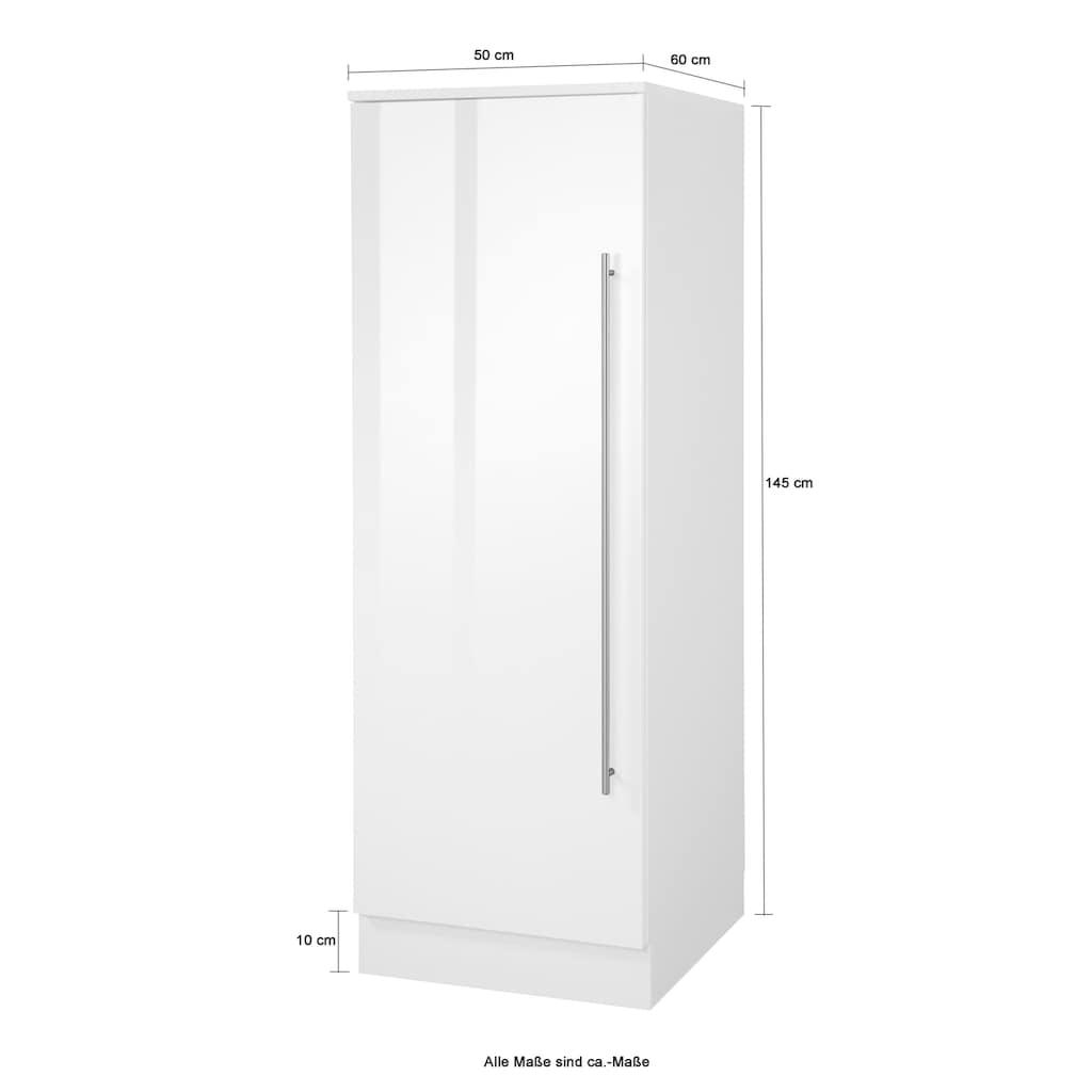 wiho Küchen Seitenschrank »Chicago«, 50 cm breit, 145 cm hoch, mit 3 Einlegeböden, für die Stauraum