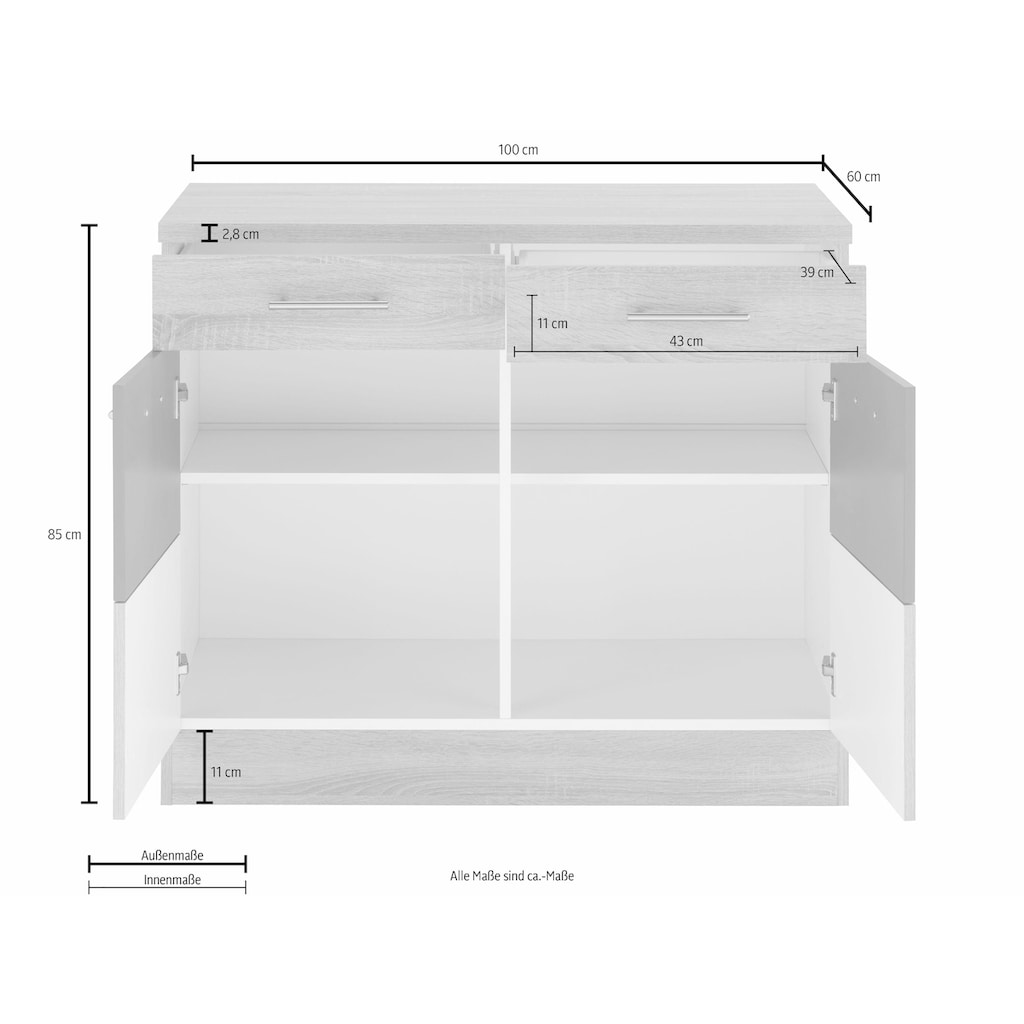 HELD MÖBEL Unterschrank »Perth«, Unterschrank, Breite 100 cm