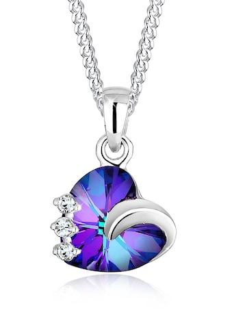 Elli Collierkettchen »Herz Kristalle 925 Silber Tesoro« kaufen