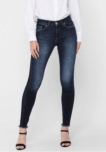 Only Skinny-fit-Jeans »ONLBLUSH LIFE«, mit ausgefranstem Saum kaufen