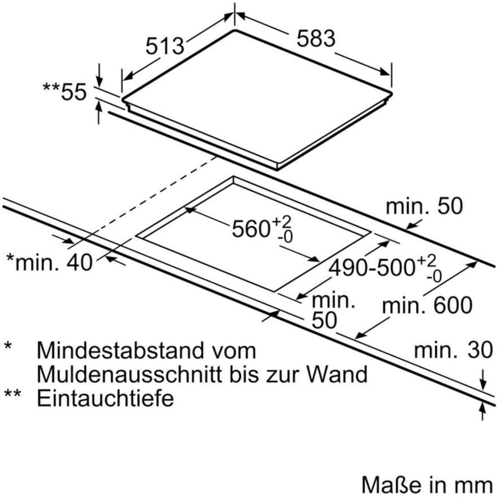 BOSCH Induktions Herd-Set »HND677LS65«, HEB578BS1, mit Backwagen, Pyrolyse-Selbstreinigung