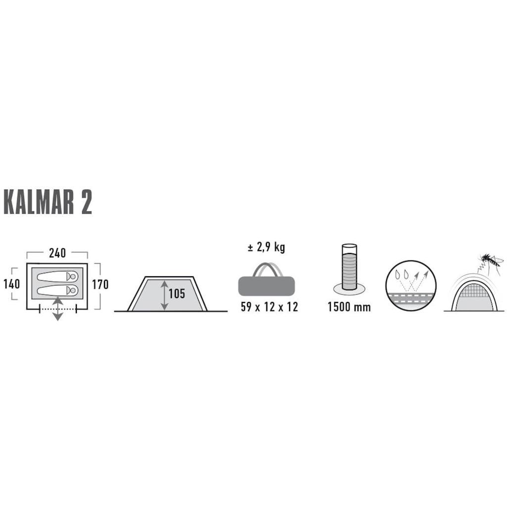 High Peak Tunnelzelt »Zelt Kalmar 2«, 2 Personen, (mit Transporttasche)