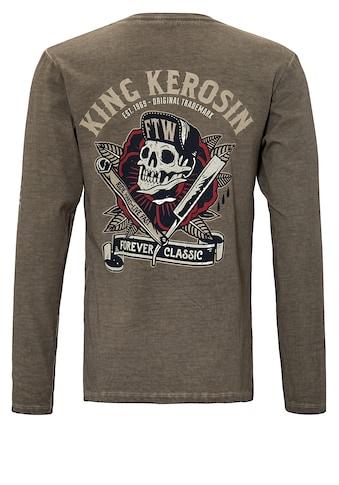 KingKerosin Print-Shirt »Ride Hard Live Fast«, mit Prints und Oilwash-Effekten kaufen