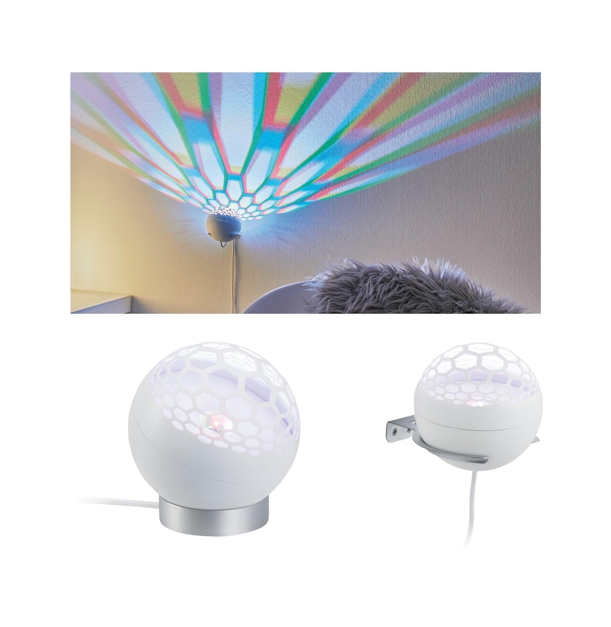 Paulmann,LED Tischleuchte Wandleuchte Favia RGB 6W Weiß