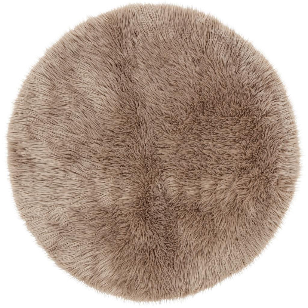 ASTRA Fellteppich »Mia«, rund, 50 mm Höhe, Kunstfell, waschbar, Wohnzimmer