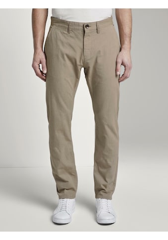 TOM TAILOR Chinohose »Strukturierte Travis Slim Chino Hose« kaufen