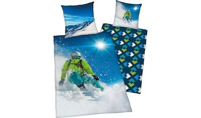 """Herding Young Collection Wendebettwäsche »Skifahrer«, mit tollem """"Skifahrer"""" Motiv kaufen"""