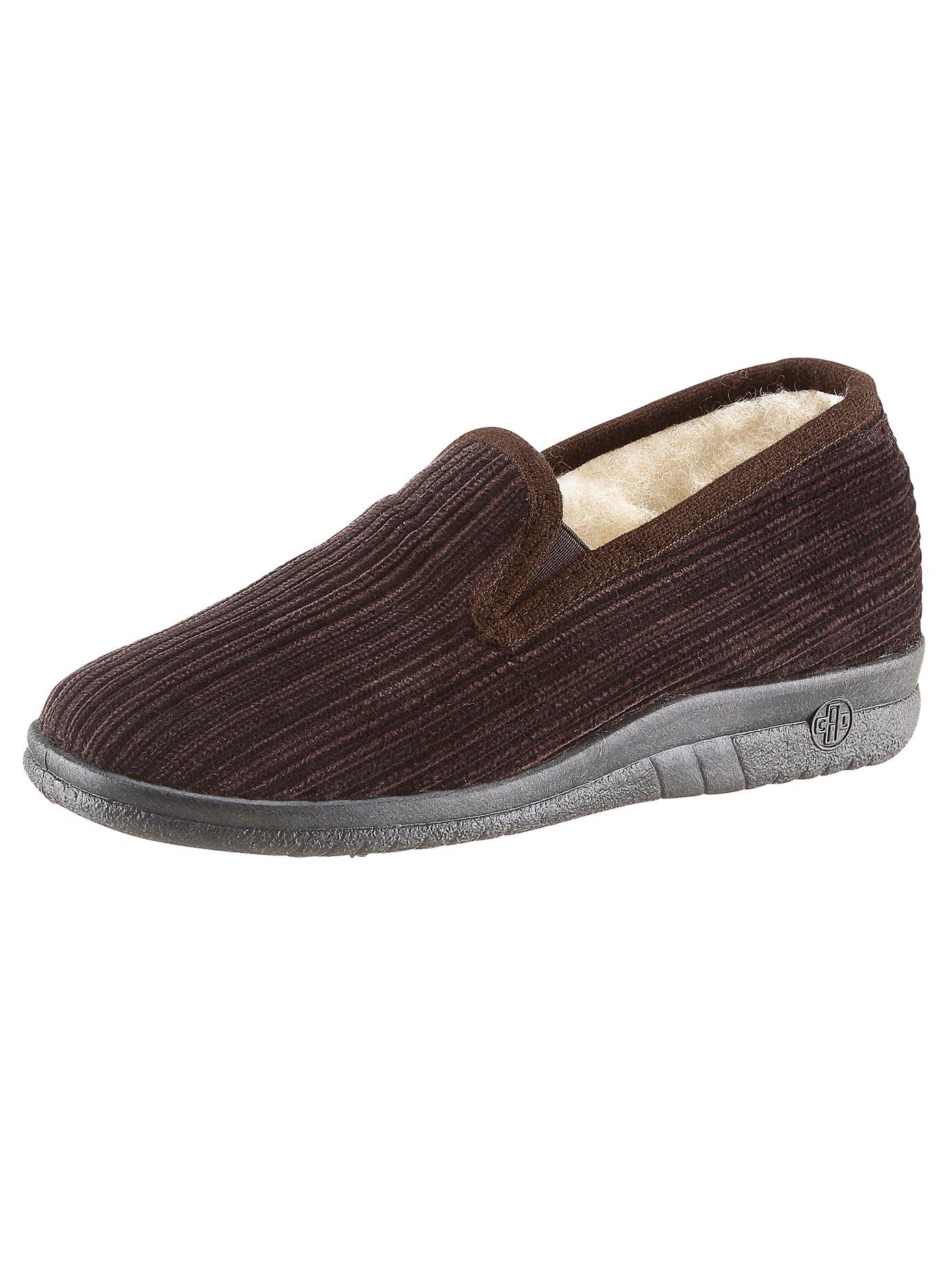 Landgraf Hausschuh braun Herren Hausschuhe Offene Schuhe