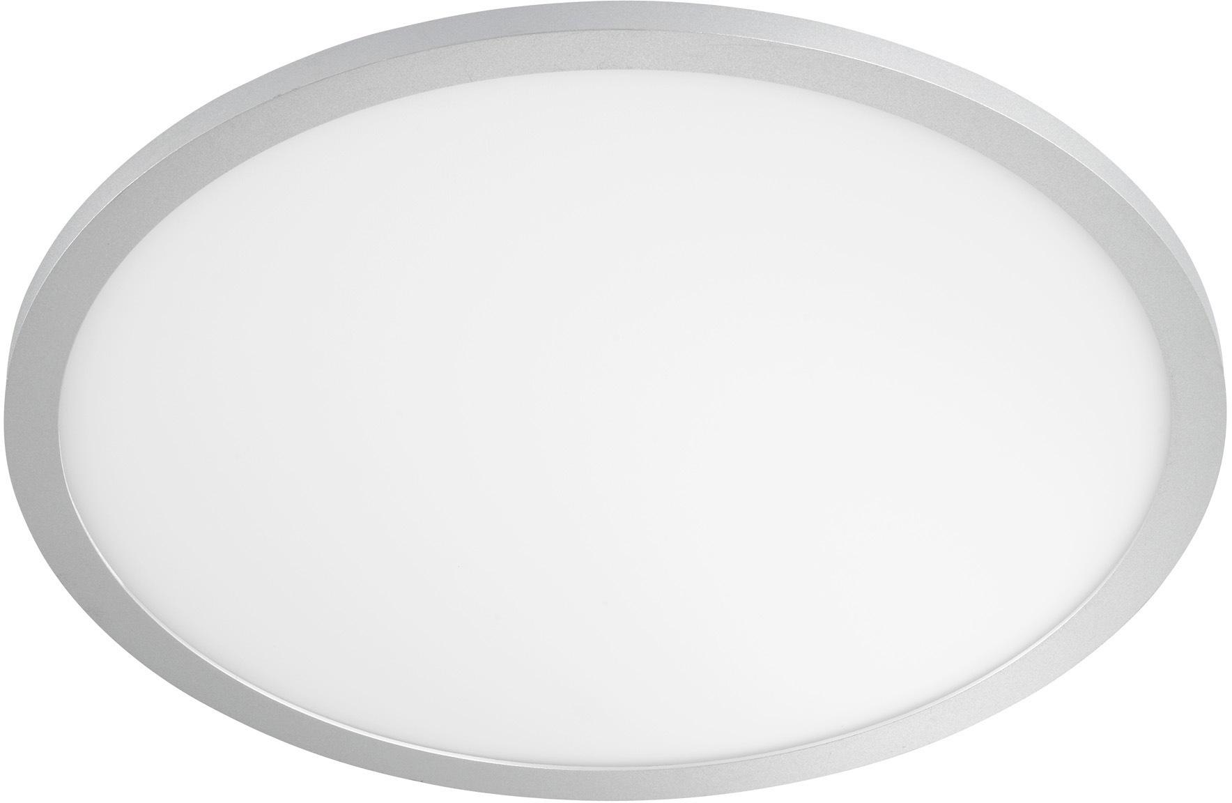WOFI LED Deckenleuchte LINOX, LED-Board, Kaltweiß, dimmbar mittels Fernbedienung