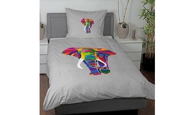 TRAUMSCHLAF Bettwäsche »Elefant«, Design mit seidigem Glanz kaufen