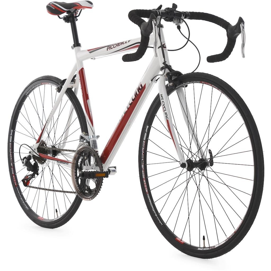 KS Cycling Rennrad »Piccadilly«, 14 Gang Shimano RD-A 050 Schaltwerk, Kettenschaltung