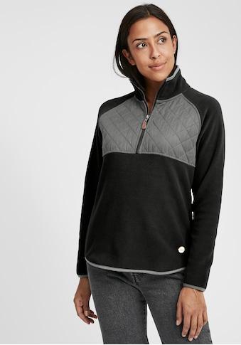 OXMO Kapuzensweatjacke »Malita«, Fleece Übergangsjacke mit Stepp-Detail kaufen