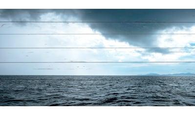 queence Holzbild »Wellen und Wolken«, 40x80 cm kaufen