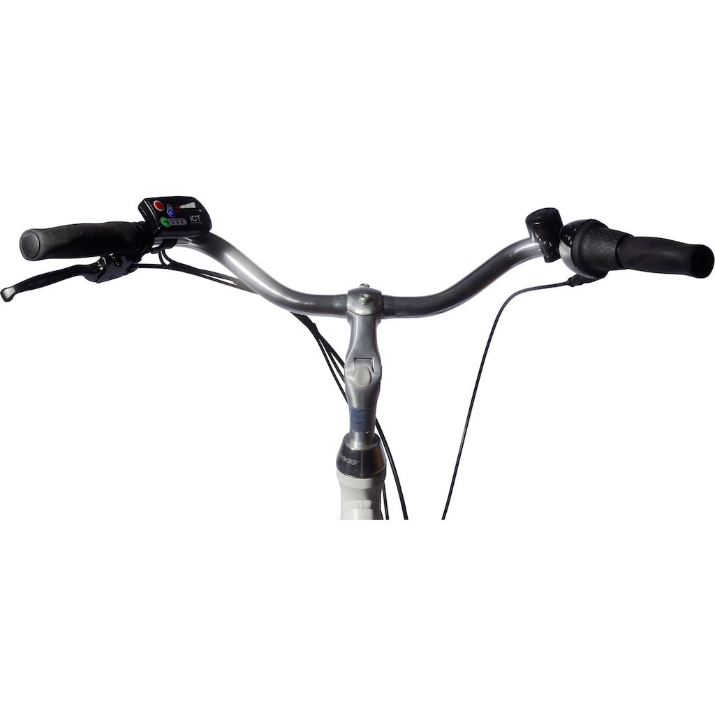 ALLEGRO E-Bike »Elegant 02 White«, 3 Gang, Shimano, Nexus, Frontmotor 250 W