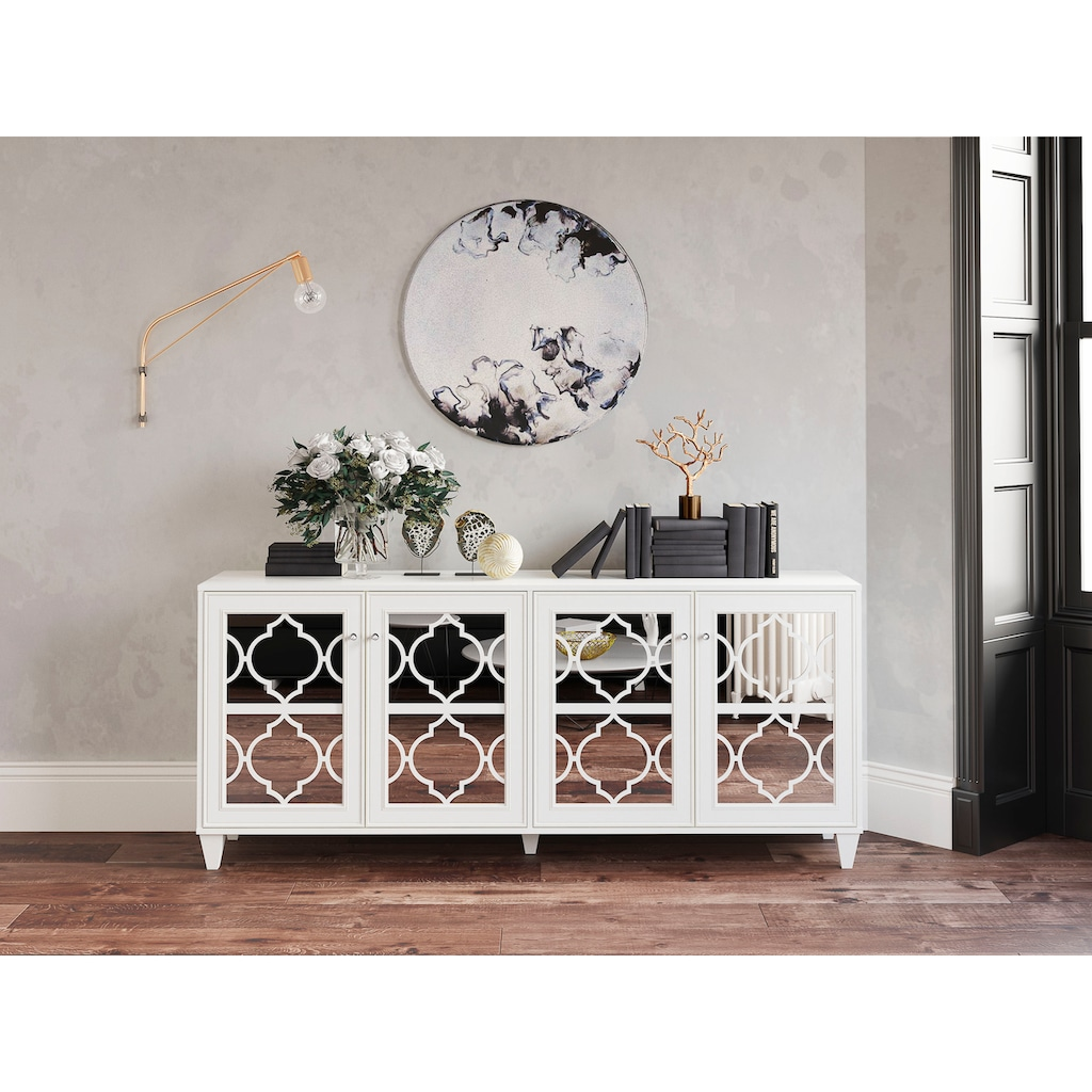 Leonique Sideboard »Jessica«, mit Spiegelfront und schön ausgefrästen Profilen