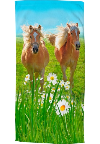 good morning Strandtuch »Horses«, (1 St.), trocknet schnell kaufen