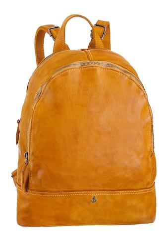 HARBOUR 2nd Cityrucksack »B3-7570 al-Meghan«, aus Leder mit typischen Marken-Anker-Label und Schmuckanhänger kaufen